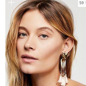 Free People Still water Fringe Earrings